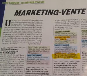 master marketing tic capital métier avenir