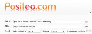 quel est le meilleur compte twitter marketing sur Google : resultats positeo